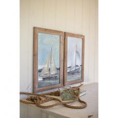 Lake Sailboats Framed Prints (Set Of 2)