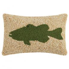 Large Mouth Bass Hook Pillow