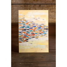 School of Colorful Fish Oil Painting