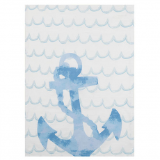 Watercolor Anchor Kitchen Towel