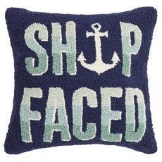 Ship Faced Hook Pillow