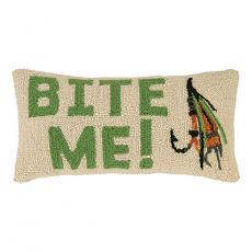 Bite Me Fishing Hook Pillow