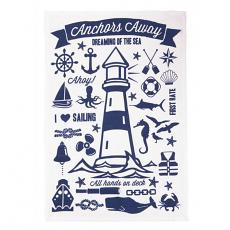 Anchors Away Nautical Kitchen Towel