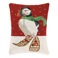 Puffin In Snowshoes Hook Pillow
