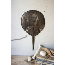 Hammered Metal Horseshoe Crab Wall Hanging