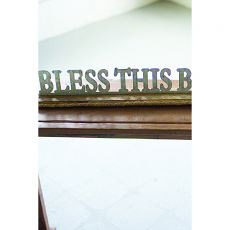Bless This Beach House Wooden Sign