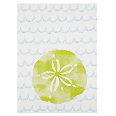 Watercolor Sand Dollar Kitchen Towel