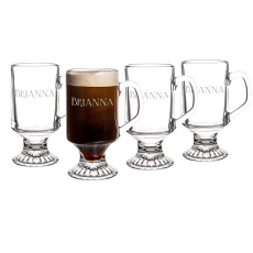 Personalized 10 oz. Irish Glass Coffee Mugs