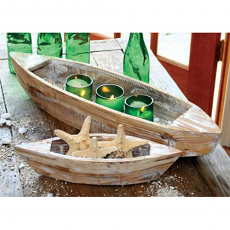 Set Of Two Wooden Boats