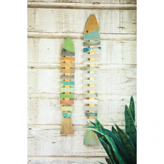 Recycled Wood Fish Wall Hangings (set of 2)