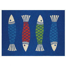 Multicolored Fish Hook Rug