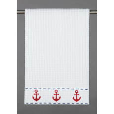 Anchor Trio Waffle Weave Kitchen Towel