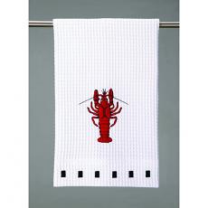 Crawfish Waffle Weave Kitchen Towel