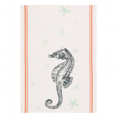 Seahorse and Sea Star Kitchen Towel