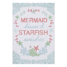 Mermaid Kisses And Starfish Wishes Kitchen Towel