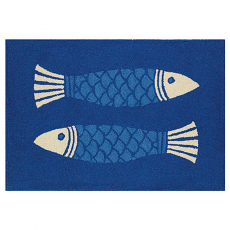 Blue Fish Hook Rug