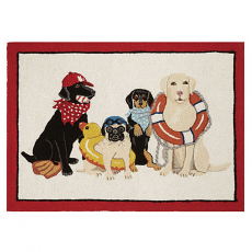 Dog Days of Summer Hook Rug