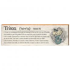 Triton Definition Wooden Wall Art