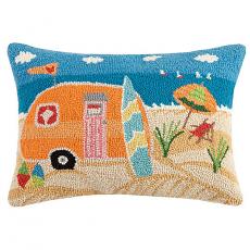 Beach Caravan Hook Pillow
