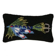Blue Fishing Lure Hook Pillow
