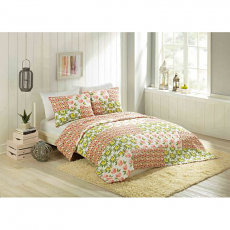 Citrus and Flowers 2 piece Quilt Set, Twin