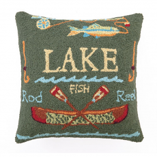Square Lake House Hook Pillow