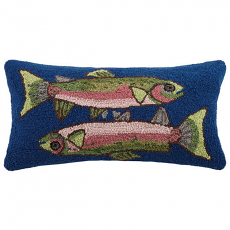 Two Fish Hook Pillow