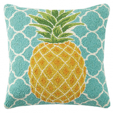 Blue Pineapple Hook Pillow