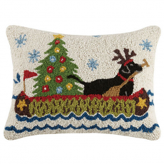 Holiday Lab Canoeing Hook Pillow