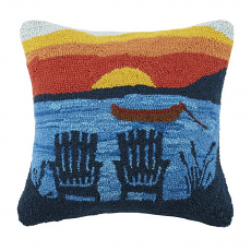 Adirondack Sunset Hook Pillow