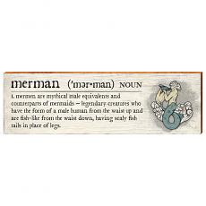 Merman Definition Wooden Wall Art