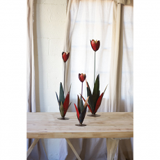 Recycled Metal Tulips (set of 3)