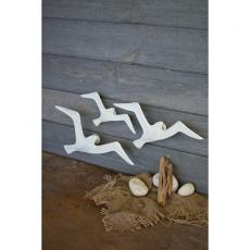 Set Of Three Cast Iron Seagulls Wall Decor