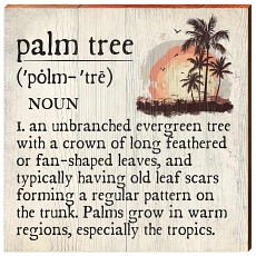Palm Tree Definition Wooden Wall Art