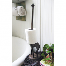 Rustic Cast Iron Giraffe Paper Towel Holder