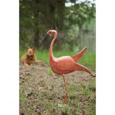 Iron Bird With Metal Base - Pink