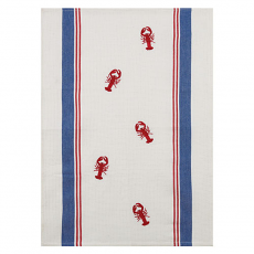 Woven And Embroidered Lobster Kitchen Towel