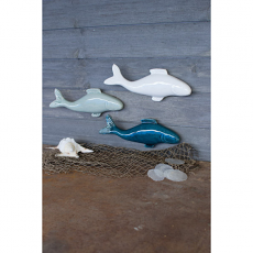 Set of Three Ceramic Fish Wall Hangings