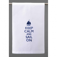 Keep Calm And Sail On Kitchen Towel
