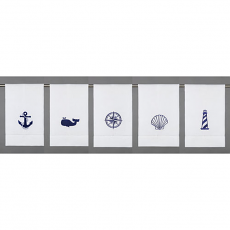 Assorted Nautical Icons Guest Towels (Set Of 10)