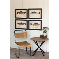Trout Prints Under Glass (set of 4)