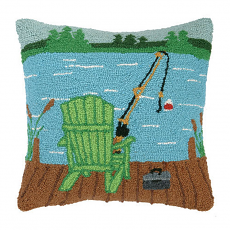 Adirondack On Dock Hook Pillow