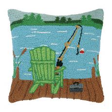 Adirondack On Dock Hook Pillow