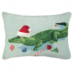 Christmas Gator Hook Pillow