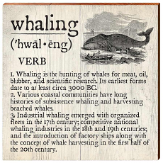 Whaling Definition Wooden Wall Art