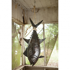 Recycled Hand Hammered Tuna with Sisal Rope