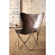 Iron Butterfly Chair - Antique Black
