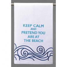 Keep Calm Beach Kitchen Towel