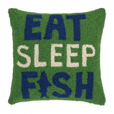 Eat Sleep Fish Hook Pillow
