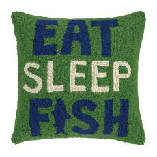 Eat Sleep Fish Hook Pillow